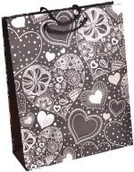 Enwraps White Heart Print Small