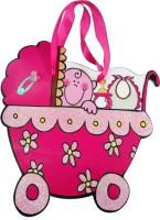 Elegant Gift Shop Baby In A Pram Printed Party Bag (Pink, Pack Of 1)