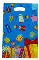 Smartcraft Blendid -Blue Printed Party Bag (Multicolor, Pack Of 10)