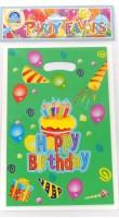 Funcart Frolic Birthday Lootbag Printed Party Bag (Green, Pack Of 6)