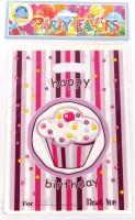 Funcart Sweet Treat Cupcake Lootbag Printed Party Bag (Pink, Pack Of 6)