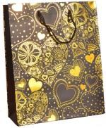 Enwraps Yellow Heart Print Big