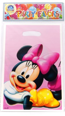 Funcart Minnie Mouse Lootbag Printed Party Bag (Pink, Pack Of 6)