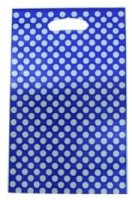 Smartcraft Polka Dotted -Dark Blue Printed Party Bag (Multicolor, Pack Of 10)