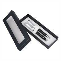 Eternal Gandhi Double Logo Pen Gift Set (Pack Of 2, Black)