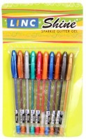 Linc Shine Gel Pen (Pack Of 10, Multicolor)