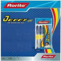 RORITO JEFFY GEL PEN BLACK PACK OF 80 PCS Gel Pen (Pack Of 80, BLACK)