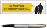 Parker Frontier BP With Dad Quote -7 Pen Gift Set (Blue)