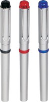 Jazam Emotion Roller Ball Pen (Pack Of 3, Blue)