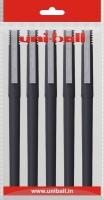 Uniball Micr Roller Ball Pen (Pack Of 5, Black)