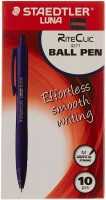 Staedtler Effortless Smooth Writing Ball Pen (Pack Of 10, Blue)