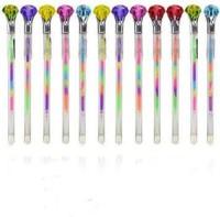 Palakz Diamond Set Of 12 Gel Pen (Pack Of 12, Multicoloured)