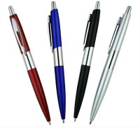 RIF Metal Chrome Pen (Set Of 4 Pcs) Ball Pen (Pack Of 4, Blue)