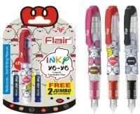 Flair Inky Yo Yo Fountain Pen (Pack Of 4, Blue)