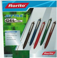 RORITO JETTRA GEL PACK OF 10 PCS Gel Pen (Pack Of 10, Blue)