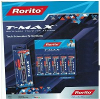 RORITO T MAX BLACK Gel Pen (Pack Of 10, BLACK)
