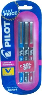 Buy Pilot V5 (Pack of 3) Liquid Ink Rollerball Pen: Pen