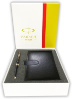 Parker Aster Laque Black GT BP Free Passport Holder (Black)