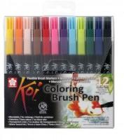 Sakura Koi Coloring Brush Calligraphy (Pack Of 12, Assorted)
