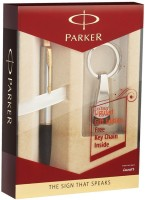 Parker Frontier BP With Key Chain Pen Gift Set (Blue)