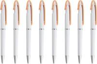PeepalComm Classic Orange Roller Ball Pen (Pack Of 8, Blue)