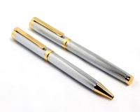 SRPC Executive Silver Mesh Gift Collection Rollerball & Ball Point Pen Pen Gift Set (Pack Of 2, BLUE)