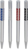 RIF Metal Seven Strip (Set Of 4 Pcs) Ball Pen (Pack Of 4, Blue)