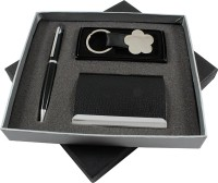 RadiusIn Roller Ball Pen Gift Set (Pack Of 3, Black)