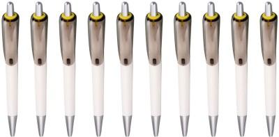 Zarsa Classicd Yellow Roller Ball Pen (Pack Of 10, Blue)