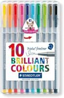 Staedtler Triplus Tip Desktop Fineliner Pen (Pack Of 10, Multicolour)