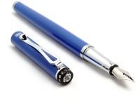 SRPC Blue Body Cystal Diamond Embedded Jewel Series Fountain Pen (Blue)