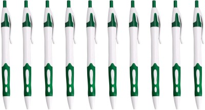 LUXANTRA Classic Green Roller Ball Pen (Pack Of 10, Blue)