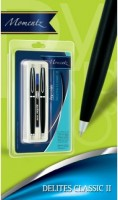 Reynolds MOMENTZ-Delites Classic II (pack Of 3) Ball Pen (Pack Of 3, Blue)