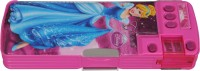 Disney Princess Cartoon Art Plastic Pencil Box (Set Of 1, Light Pink, Dark Pink)