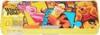 Disney Pooh Cartoon Art Plastic Pencil Box (Set Of 1, Yellow)
