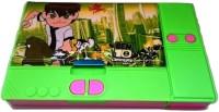 Gift Chachu Jumbo Ben 10 Art Plastic Pencil Box (Set Of 1, Green)