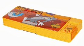 Warner Bros. Tom And Jerry Tom And Jerry Art Pencil Box - Yellow