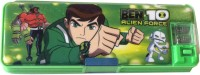 Karta Ben10 With Led Light Art Plastic Pencil Box (Set Of 1, Green)