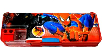 FCS Geometry & Pencil Boxes FCS Magnetic with Double Sided Gift Cartoon Art Plastic Pencil Box