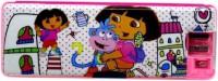 Atorakushon Magnetic With Micro Fan Cartoon Art Plastic Pencil Box (Set Of 1, Pink)