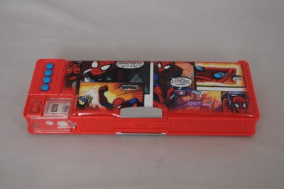 Marvel Geometry & Pencil Boxes Marvel Spiderman Graphics Art Plastic Pencil Box