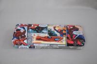 Disney Spider Man Cartoon Art Metal Pencil Box (Set Of 1, White, Red, Blue)