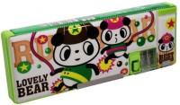 RD Promos Kids Multi Purpose Compass Cartoons Art Plastic Pencil Box (Set Of 1, Green)