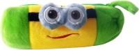 Klassik 3D Small Eyes Random Art Cloth Pencil Box (Set Of 1, Green)