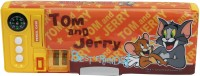 Warner Bros. Tom and Jerry Tom and Jerry Art Pencil Box Orange||Yellow