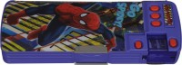 Marvel Spiderman Superhero Art Plastic Pencil Box (Set Of 1, Blue, Red)