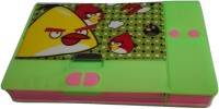Gift Chachu Jumbo Angry Birds Art Plastic Pencil Box (Set Of 1, Green)