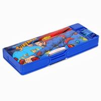 Warner Bros. Superman Plastic Pencil Boxes Blue