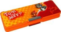 Tom & Jerry School Plastics Pencil Boxes (Set Of 1, Orange)