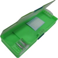 Starmark BTS Smiley Art PVC Pencil Box (Set Of 1, Green)